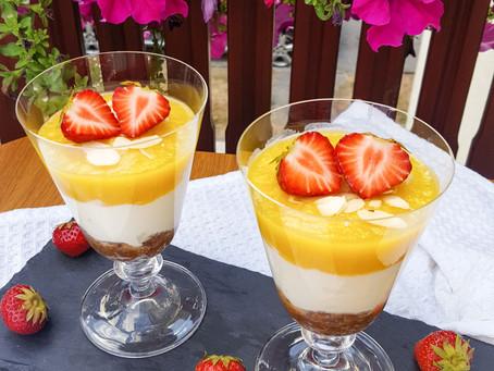 Mangový dezert do skleničky