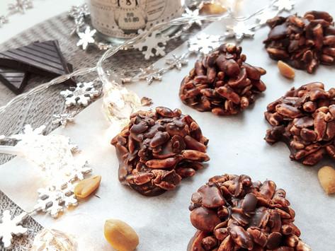Nepečené čokoládovo-arašídové cookies