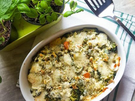Zapečená brokolice s ricottou a bramborem