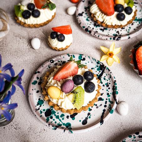 Tartaletky s krémem z bílé čokolády a mascarpone