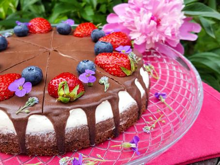 Letní dort s mascarpone a jahodami