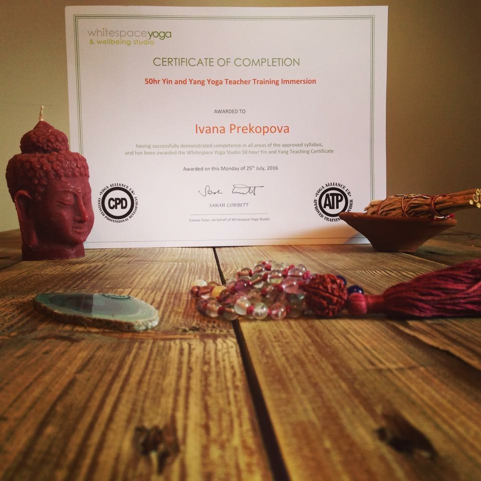 Yin Teacher Training Certificate