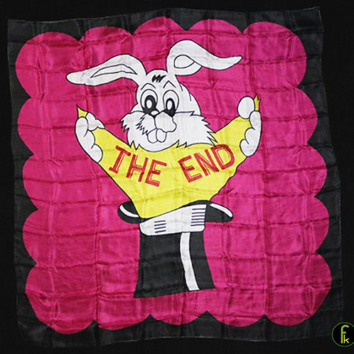 Production Hanky The End (36 inch x 36 inch)