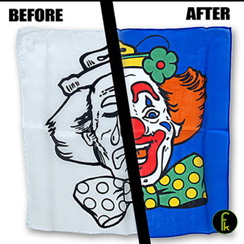 Happy / Sad Clown Silk Set (18 inch) Magic