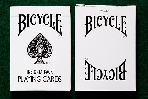 Bicycle Insignia Back (White) Naipes