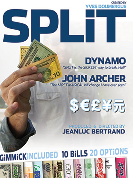 Split (Gimmicks and Online Instructions) by Yves Doumergue and JeanLuc