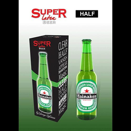 Super Latex Green Beer Bottle (Half)