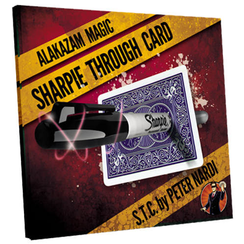 Sharpie Through Card (Gimmick and Online Instructions) Red