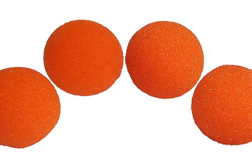 2 inch Regular Sponge Ball (Orange) Pack of 4 from Magic by Gosh