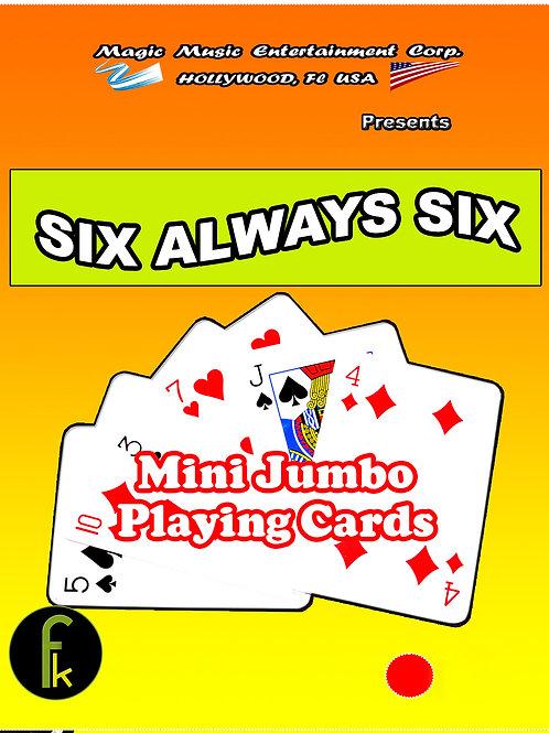 """MINI JUMBO - 6 SIEMPRE 6 - SIX ALWAYS SIX """"ROJO"""""""