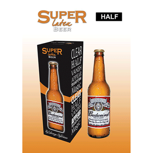 Super Latex Brown Beer Bottle (Half)