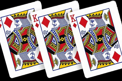 Flash Poker Card King of Diamonds (Ten Pack)