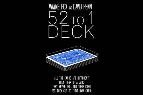 The 52 to 1 Deck Blue (Gimmicks and Online Instructions)