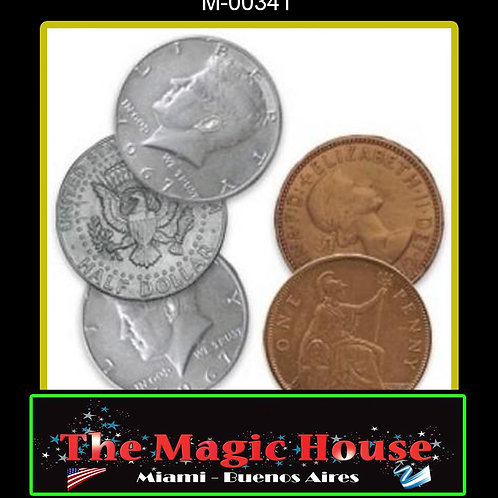 Hopping Half Medio Dolar/Penique Ingles