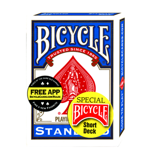 Bicycle Short Deck (Blue) by US Playing Card Co.