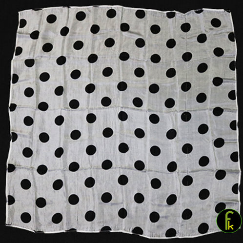 Polka Dot Hanky, Black on White (21 inches x 21 inches)