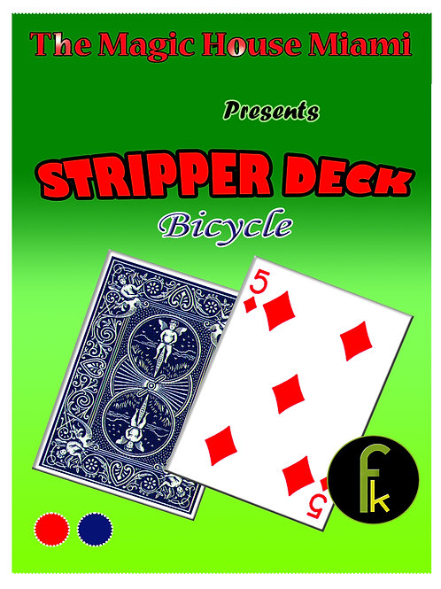 STRIPPER DECK - BICYCLE AZUL