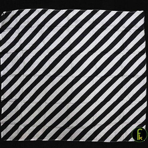 "Production Hanky Zebra Black and White (21"" x 21"")"