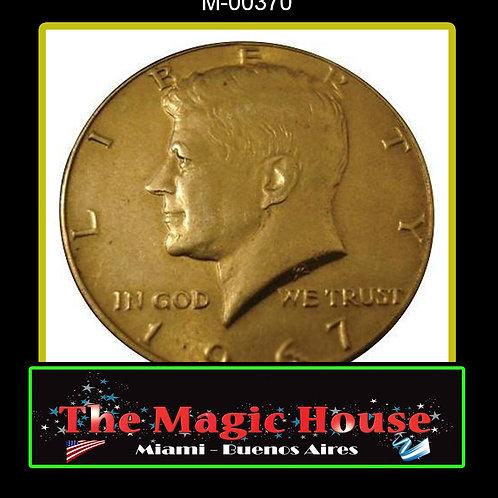Moneda Jumbo Medio Dolar Simil Oro