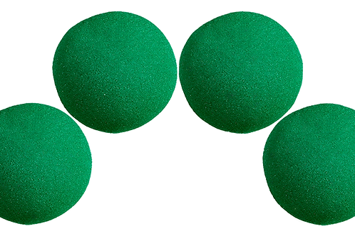 2 inch Super Soft Sponge Ball (Green) Pack of 4 from Magic by Gosh