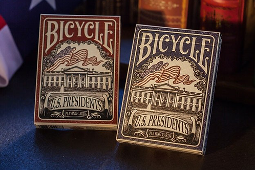 Bicycle U.S. Presidents Playing Cards (Democratic Red) by U.S. Playing