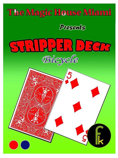 STRIPPER DECK - BICYCLE ROJO