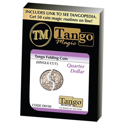 Tango Folding Coin Quarter Dollar Traditional Single Cut (D0180)