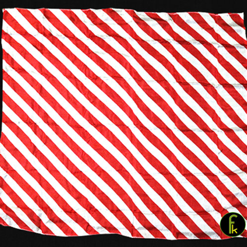 """Production Hanky Zebra Red and White (21"""" x 21"""")"""