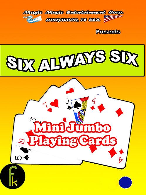 "MINI JUMBO - 6 SIEMPRE 6 - SIX ALWAYS SIX ""AZUL"""