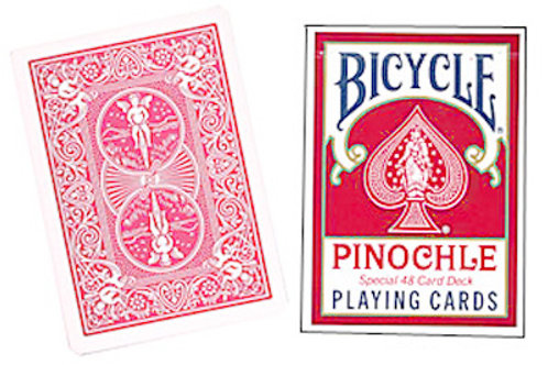 Bicycle Pinochle Poker-size (Red)