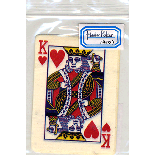 Flash Poker Card King of Hearts (Ten Pack)