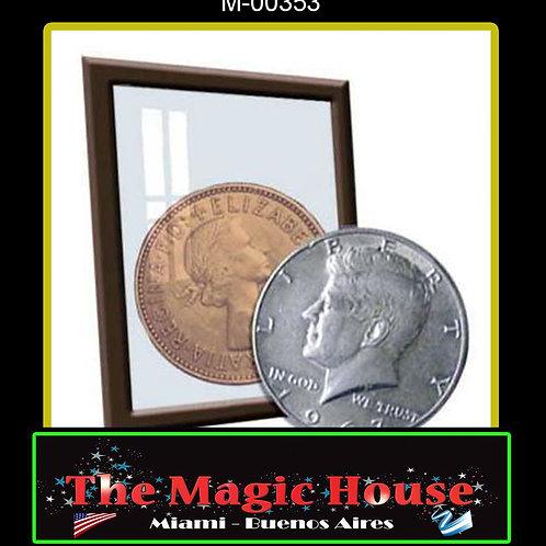 Plata y cobre Medio Dolar y Penique
