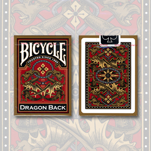 Bicycle Dragon Back Deck (Gold)