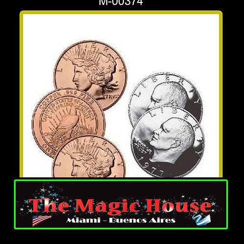 Hopping Half 1 Dolar Eisehower y 1 oz Pure Copper