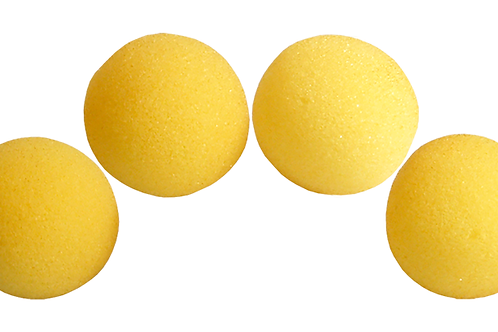 1.5 inch High Density Ultra Soft Sponge Ball (Yellow) Pack of 4 from Magic by Go