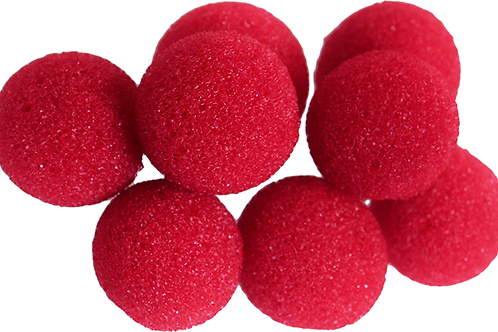 Mini Regular Sponge Ball (Red) Bag of 8 from Magic by Gosh