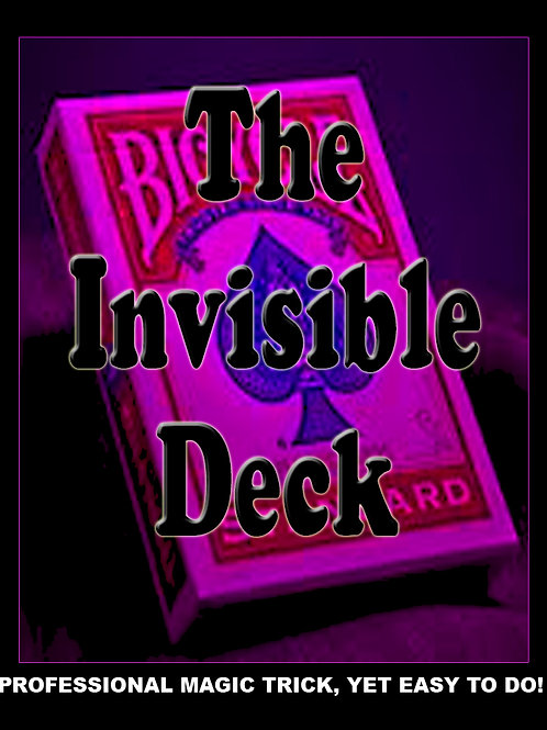 "INVISIBLE DECK ""BICYCLE"" - ROJO"