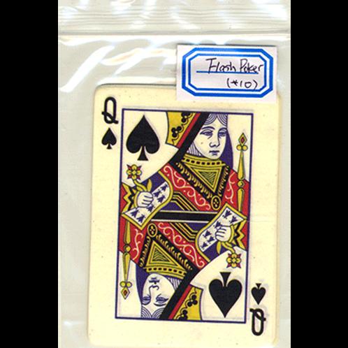 copia de Flash Poker Card Queen of Spades (Ten Pack)