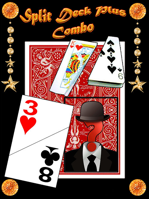 "SPLIT DECK ""COMBO"" - BICYCLE - ROJO"