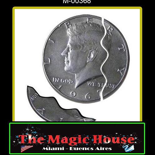 Moneda Mordida Medio Dolar Sistema Externo
