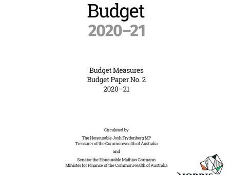 澳洲聯邦政府20-21年財政預算案