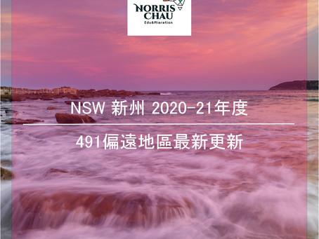 NSW 2020-21 財政年度更新