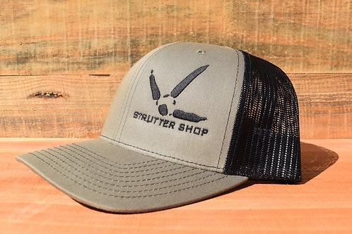 Olive/Black Strutter Shop Hat