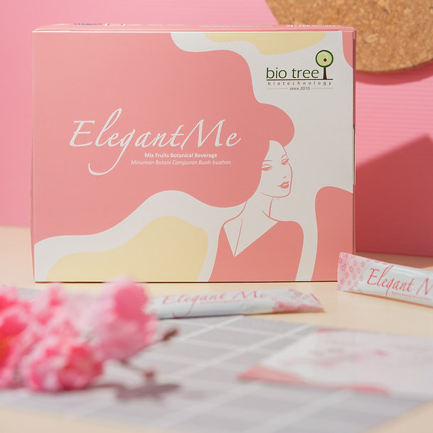 Healthy food supplement shop in Malaysia. ElegantMe is a natural, plant-based formulation mix fruits botanical beverage targeted to reverse skin aging, promote skin brightening and whitening, enhance gloss and improve skin dryness. ElegantMe is convenient to bring with us whenever we go as it is in stick pack. ElegantMe is formulated with patented Cheery Blossom Extract, and other high antioxidant superfruits such as Pomegranate and Cranberry.  ElegantMe from Bio Tree Biotechnology Malaysia targeted to busy women on the go.