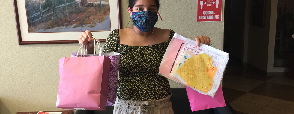 Arisha is a high school student from the Albuquerque area who has donated 100 fabric masks to NMRHN hospitals.