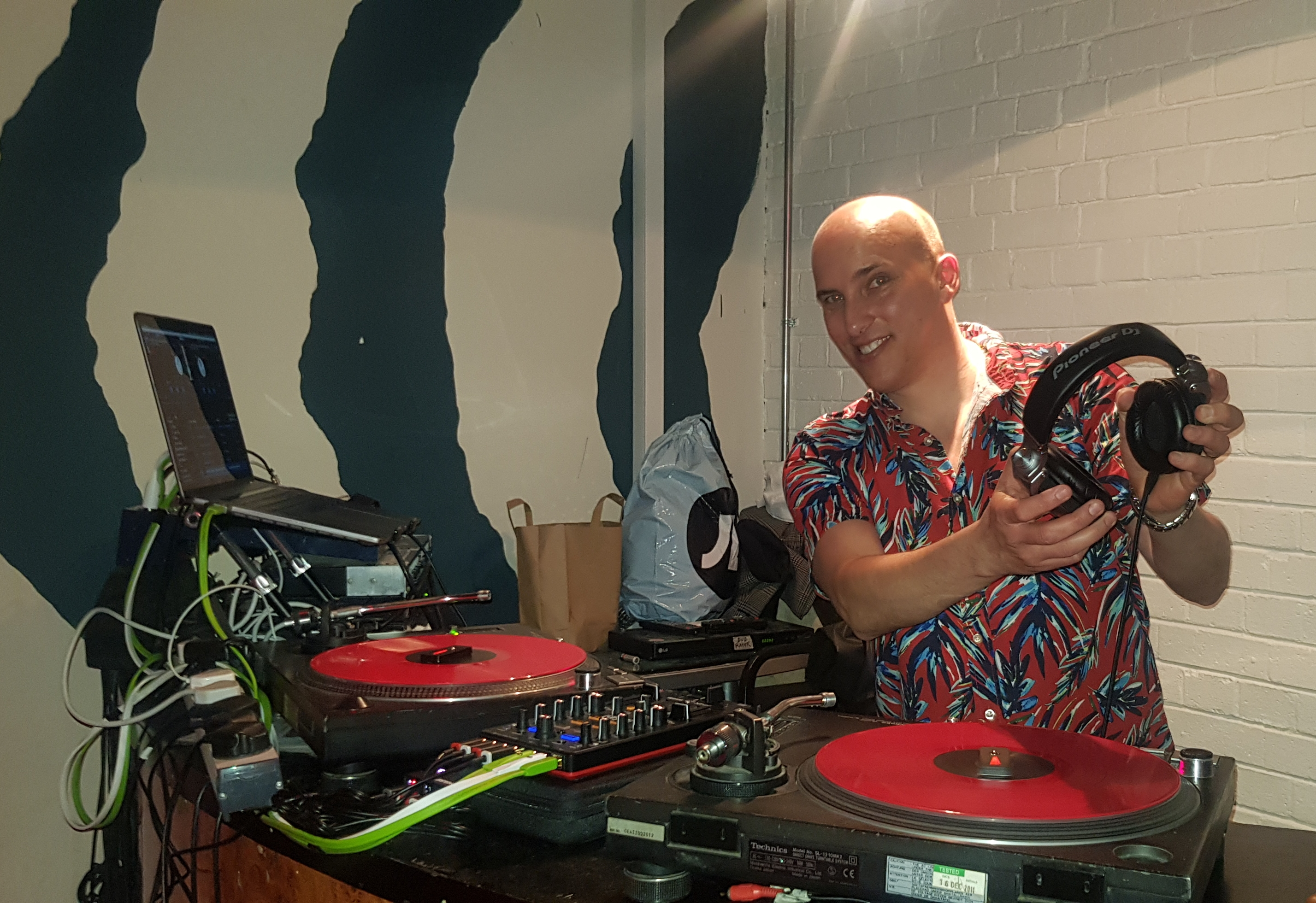 Turntables With Red Vinyls