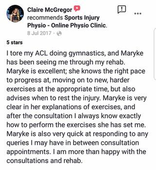 在线理疗评论:Claire