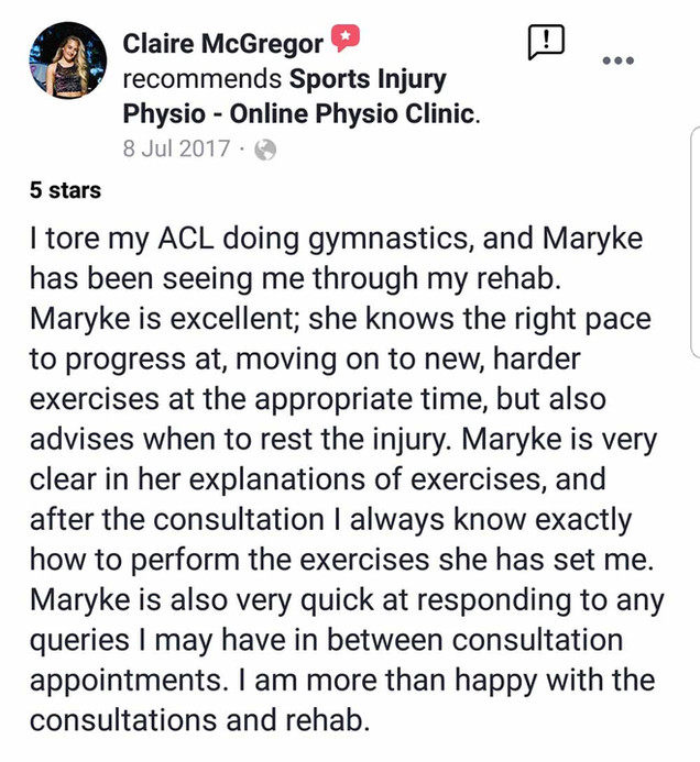 Online Physio Review: Claire