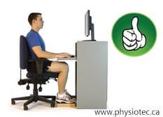 Good sitting posture.