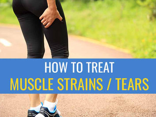 How to treat a muscle strain / tear